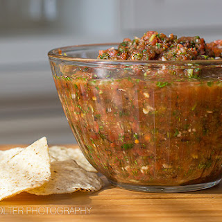 Sweet and Spicy Restaurant Style Salsa.