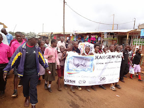 Photo: students marching for Kangemi-Pesa