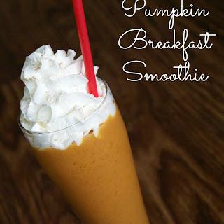 Pumpkin Breakfast Smoothie.