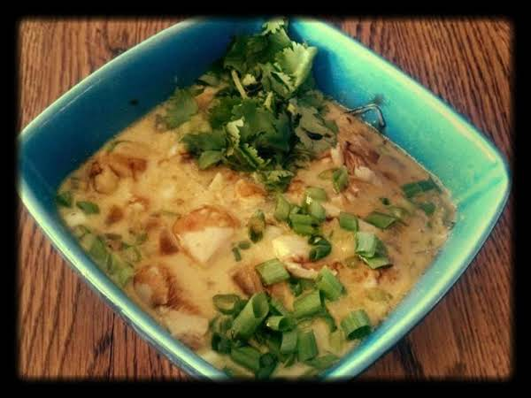 Chicken Coconut Noodle Soup Recipe