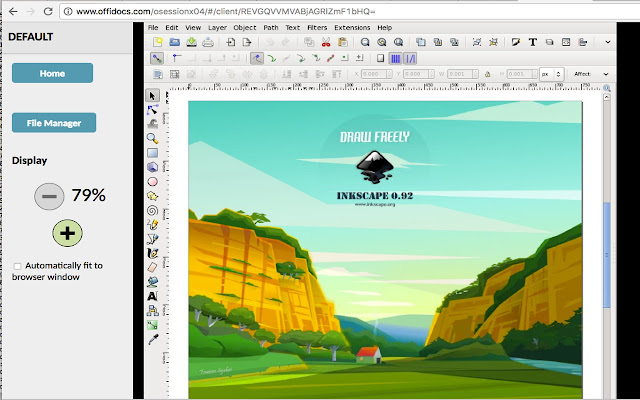 Inkscape editor for draws and graphics chrome web store create or edit vector graphics such as illustrations diagrams line arts charts logos and complex paintings inkscape editor ccuart Image collections