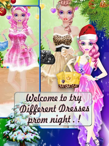 android Christmas Prom Night Salon Screenshot 0
