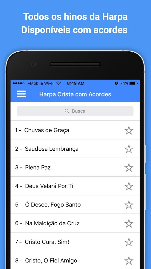 Screenshots of Harpa Cristã com Acordes for iPhone