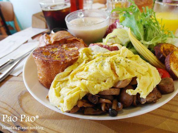 田樂早午餐~鹹食法式土司好澎拜,有機時蔬配合不同季節變換