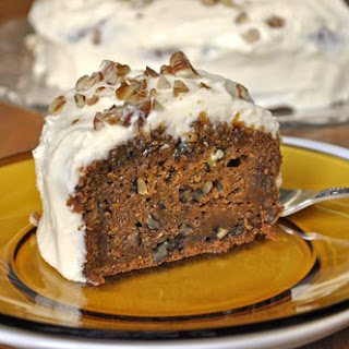 Carrot Pecan Cake with Cream Cheese Frosting