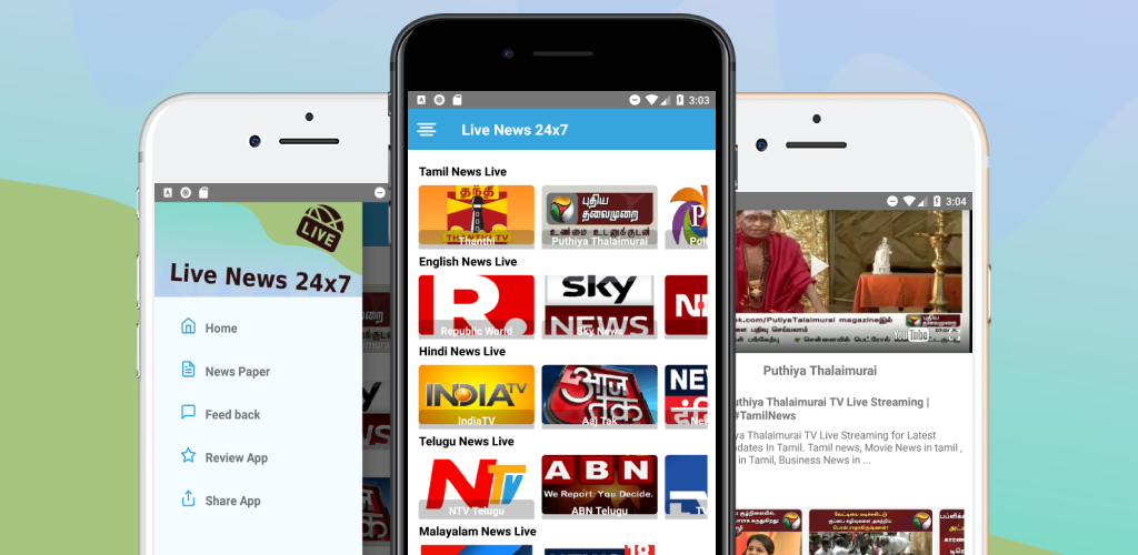 Download Tamil News Live TV 24X7 APK latest version app for