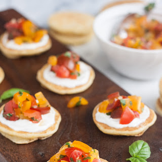 Mini Cornmeal Cakes with Heirloom Tomato Relish