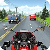 Racing In Moto Traffic Stunt Race