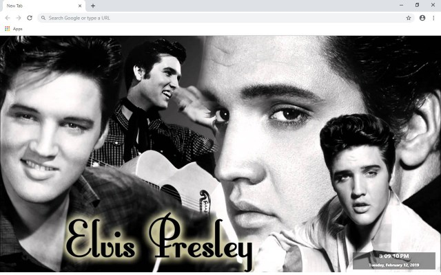 Elvis Presley New Tab & Wallpapers Collection