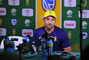 Dean Elgar of the Proteas during the South African national men's cricket team training session and press conference at PPC Newlands Stadium on March 19, 2018 in Cape Town, South Africa.