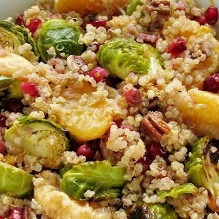 Quinoa with Roasted Brussels Sprouts, Clementines & Pomegranate