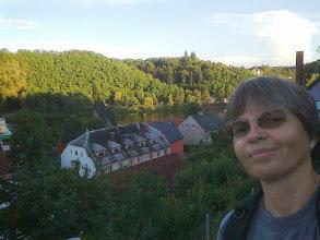 Photo: Davle, pohľad z Mosta Vltavanů na sútok Sázavy a Vltavy