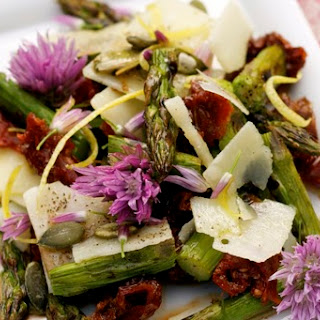 Spring Salad with Chive Blossoms & Squash Seeds Recipe