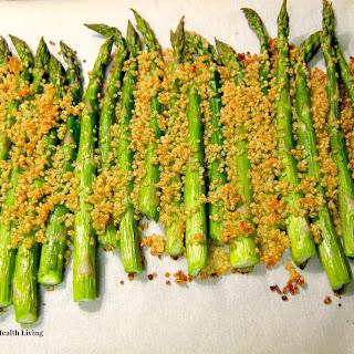 Toasted Quinoa Over Asparagus Recipe