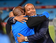 Mamelodi Sundowns owner and president Patrice Motsepe (R) wants head coach Pitso Mosimane (L) to have longevity at the cash-rich club.