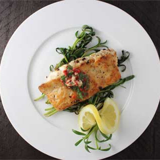 Seared Snapper with Sauteed Purslane