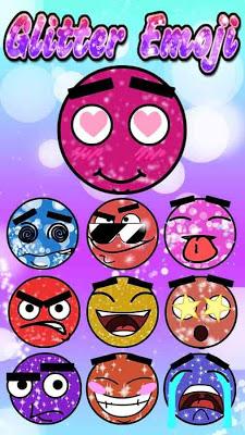 Keyboard Sticker Glitter Emoji - screenshot