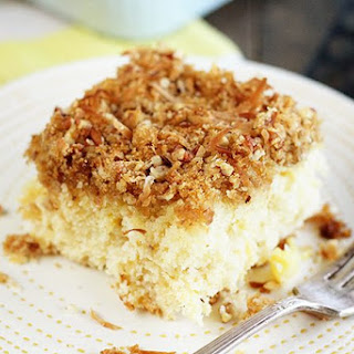 Pineapple Cake with Coconut Crumb Topping Recipe