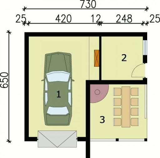 G41 - Rzut garażu