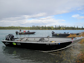 Photo: Lunch break with Alaska Drift Away Fishing.