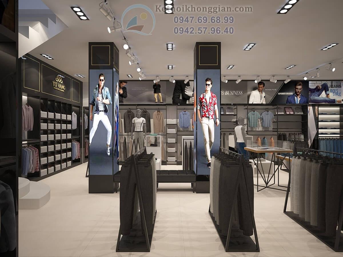 thiết kế shop thời trang nam tính và khỏe mạnh