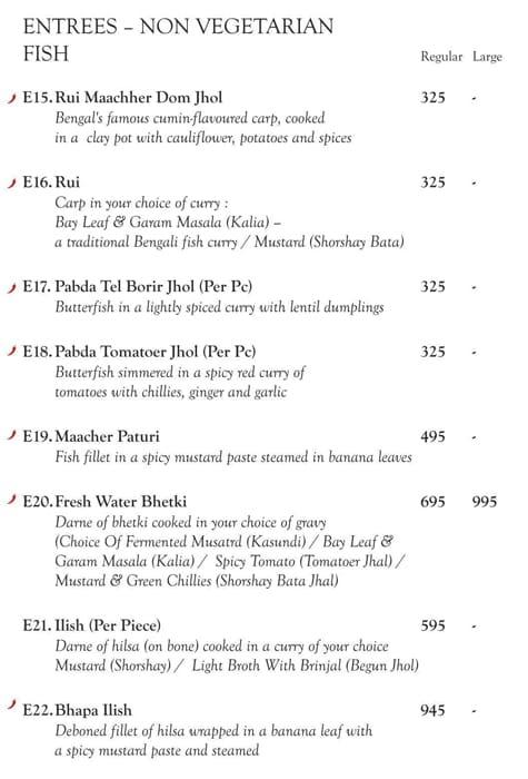 Oh! Calcutta menu 4