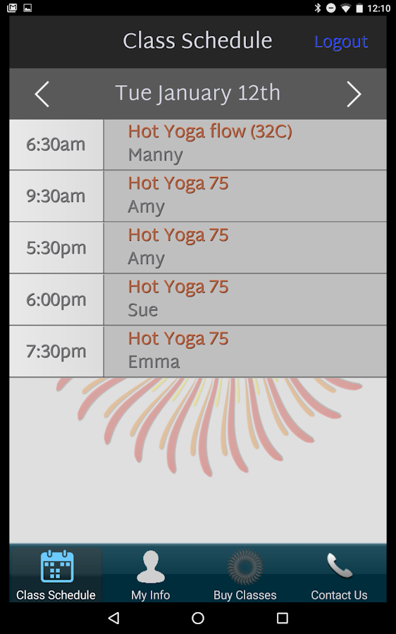 yogafusion- screenshot