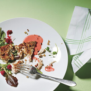 Hazelnut-Crusted Chicken with Raspberry Sauce