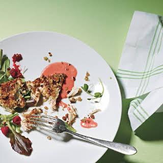 Hazelnut-Crusted Chicken with Raspberry Sauce.