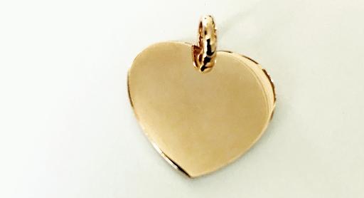 bracelet coeur bombé plaqué or