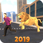 Angry Lion City Attack Simulator 2019
