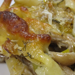Penne Baked With Leeks And Mushrooms