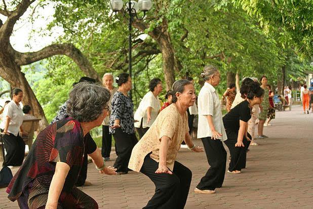 Tai Chi Class in Hanoi