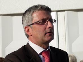 Photo: Herzlich Willkommen - der Audichef Rupert Stadler begrüßte die Gäste