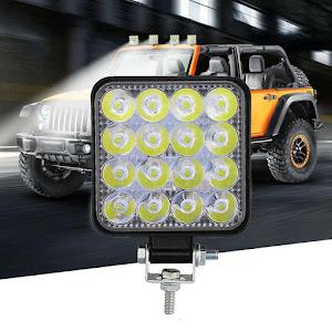 Set 4 x proiector LED auto offroad 48W