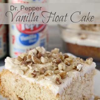 Dr Pepper Vanilla Float Cake