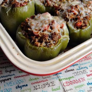 Farro & Turkey Stuffed Peppers