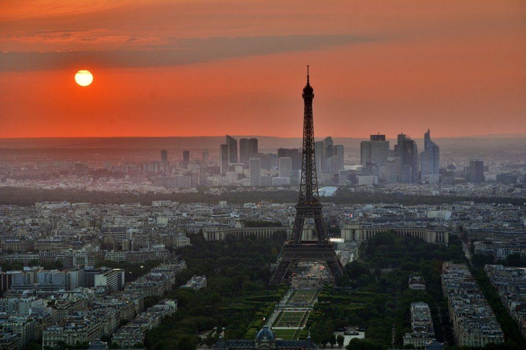 Paris-in-sunset-Europe