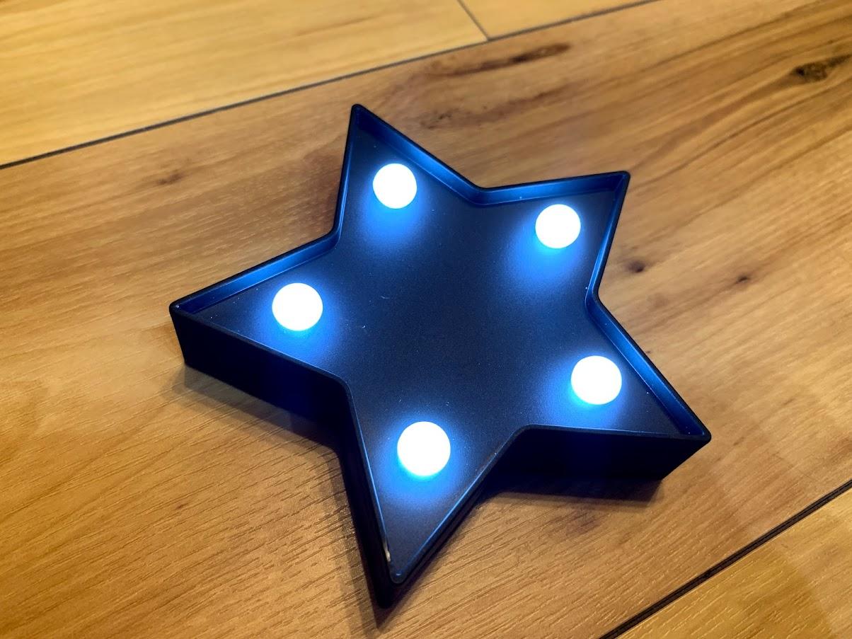 セリア LED マーキライト 星