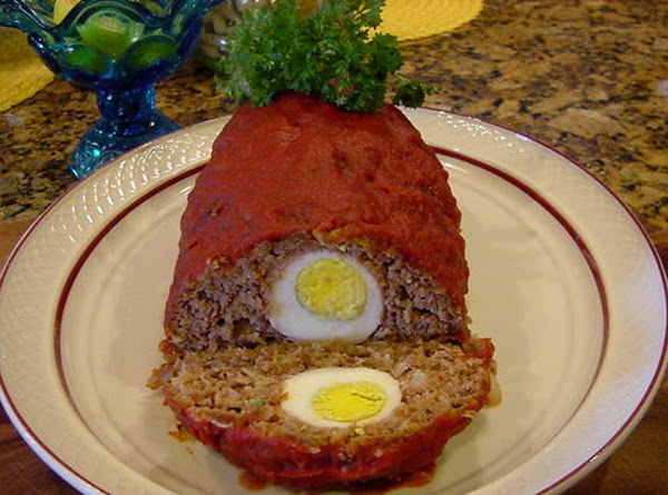 Meatloaf With Prosciutto Surprise -- Bonnie's Recipe