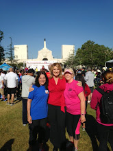 Photo: Left to Right,  Theresa Witeby, Wendy Burch (Channel 5) and Marian Jocz