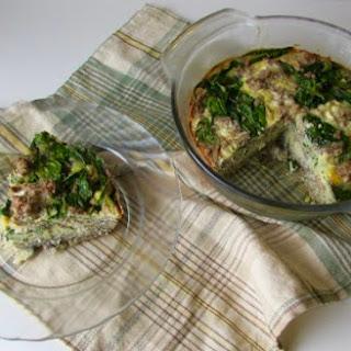 Breakfast Sausage and Spinach Quiche Recipe (Paleo & Primal Options)