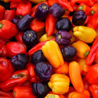 Red, Orange, Yellow and PURPLE Peppers Recipe