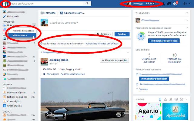 Facebook Reciente