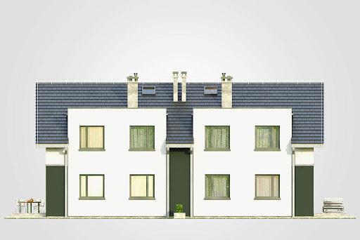 Double House II - Elewacja tylna