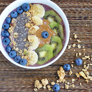 Blueberry Banana Acai Bowl (Healthy, High Protein, High Fiber, Antioxidants, Gluten Free, Refined Sugar Free) Recipe