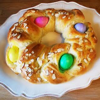 Braided Easter Egg Bread.