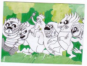 Photo: Wenchkin's Mail Art 366 - Day 154, card 154a