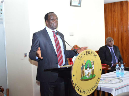 Kakamega Governor Wycliffe Oparanya at the county government headquarters