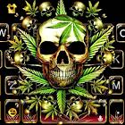 Thème de clavier Gold Weed Skull icon